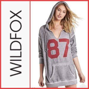 NWT Wildfox 87 Pierce Hoodie Heather Gray Size M
